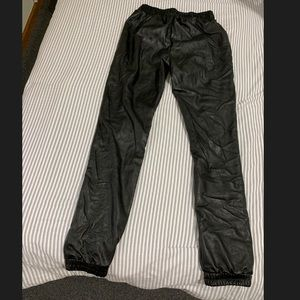 Faux pleather pants